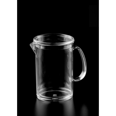 POLYCARB JUG WITH LID 1Ltr STRAIGHT SIDED