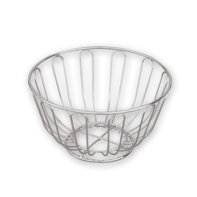 BREAD BASKET ROUND CHROME 20cm