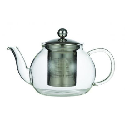 LEAF & BEAN CAMELLIA TEAPOT 1L/5 CUP GLASS WITH INFUSER