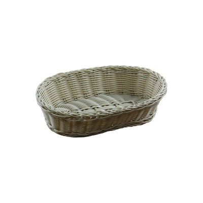 BREAD BASKET 300X225X75MM OVAL POLYPROPYLENE BPA FREE