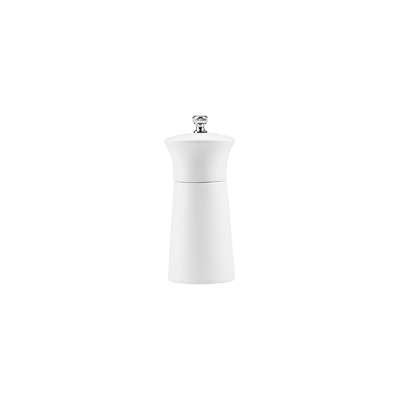 MODA EVO WHITE SALT/PEPPER MILL 12cm