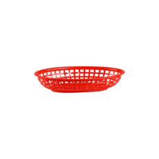 OVAL BREAD BASKET RED 240x150x50mm