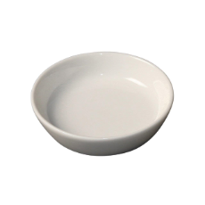 WHITE ALBUM ROUND SAUCE DISH 84x20mm