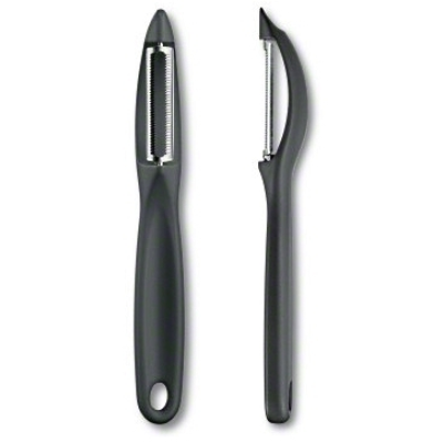 VICTORINOX UNIVERSAL PEELER BLACK SERRATED BLADE DOUBLE EDGE