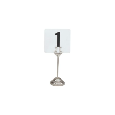 TABLE NUMBER STAND DELUXE S/S HEAVY BASE 150mm