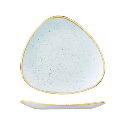 CHURCHILL STONECAST TRIANGULAR PLATE 192mm DUCK EGG