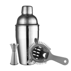 AVANTI COCKTAIL SET STAINLESS STEEL INCLUDES: 550ml COCKTAIL SHAKER, STRAINER,15/30 JIGGER