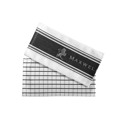 MW EPICURIOUS TEA TOWEL SET OF 2 CHARCOAL 50X70cm