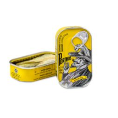 PORTHOS SARDINES IN OLIVE OIL YELLOW TIN 125G